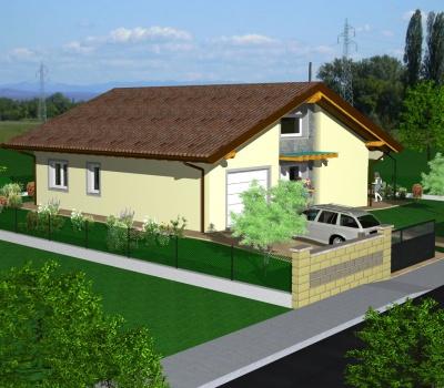 """Progetto di una villa singola ad alta efficenza energetica, classe """"A+""""; a Cervignano del Friuli"""